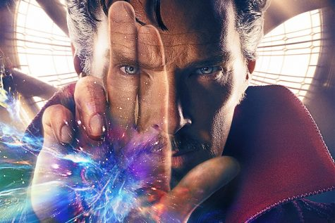 Doctor Strange casts a spell in a promotional artwork poster.