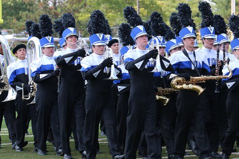 Marching band competes at Lafayette High School on Sept. 24.