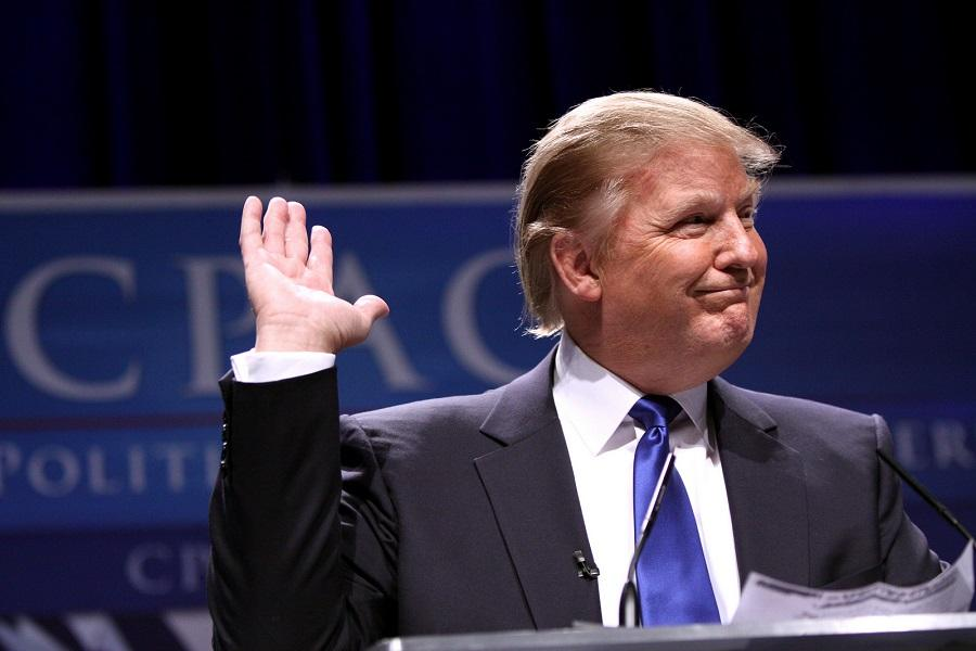 Donald Trump speaks at a 2011 conservative political conference.