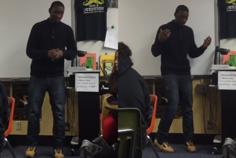 Junior Tavion Hamilton takes his tunes public