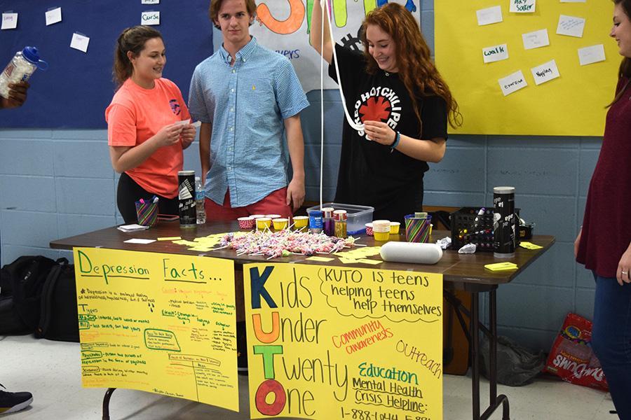 Health teacher Katelyn McCreary's fifth hour class raises money for Kids Under Twenty One.