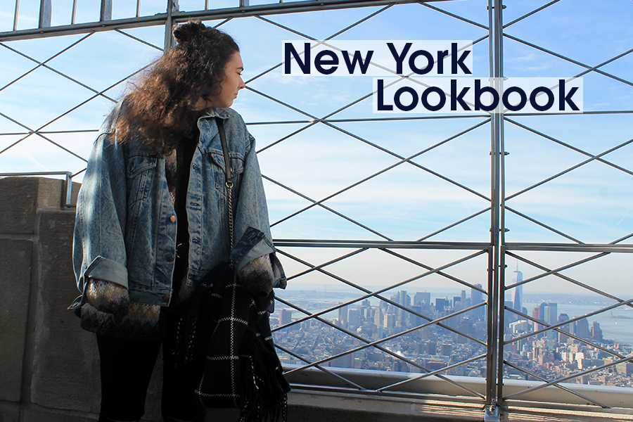 Leigh Ann poses on the top of the Empire State building.