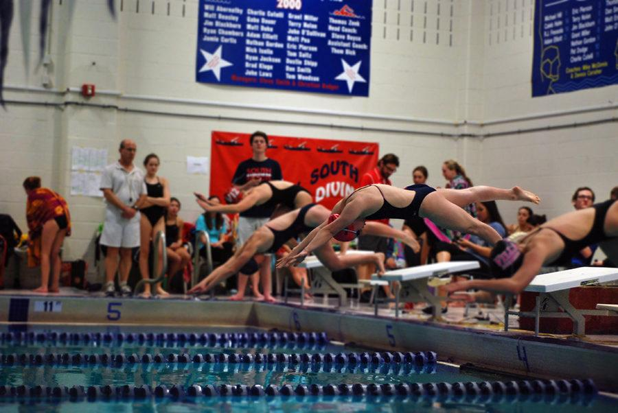 West's swim and dive team competes at South.