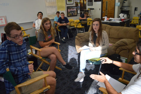 Students discuss social issues such as racism, sexism and discrimination in Common Ground small group discussions.