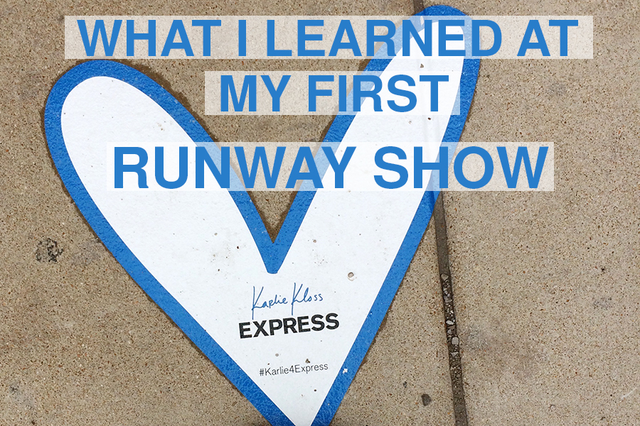 A personal touch Kloss added to the outside of the Pageant were hearts like this on the sidewalk.