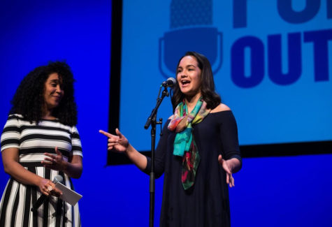 Emily Bauer performs in the top nine at Poetry Out Loud Nationals