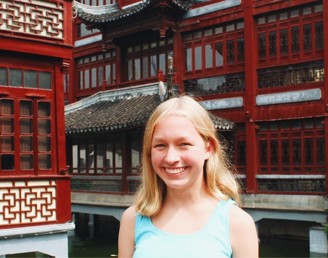 Emma Whittenburg enjoys the view of the Yuyuan Garden with her friends. Whittenburg moved back to the United States in September.