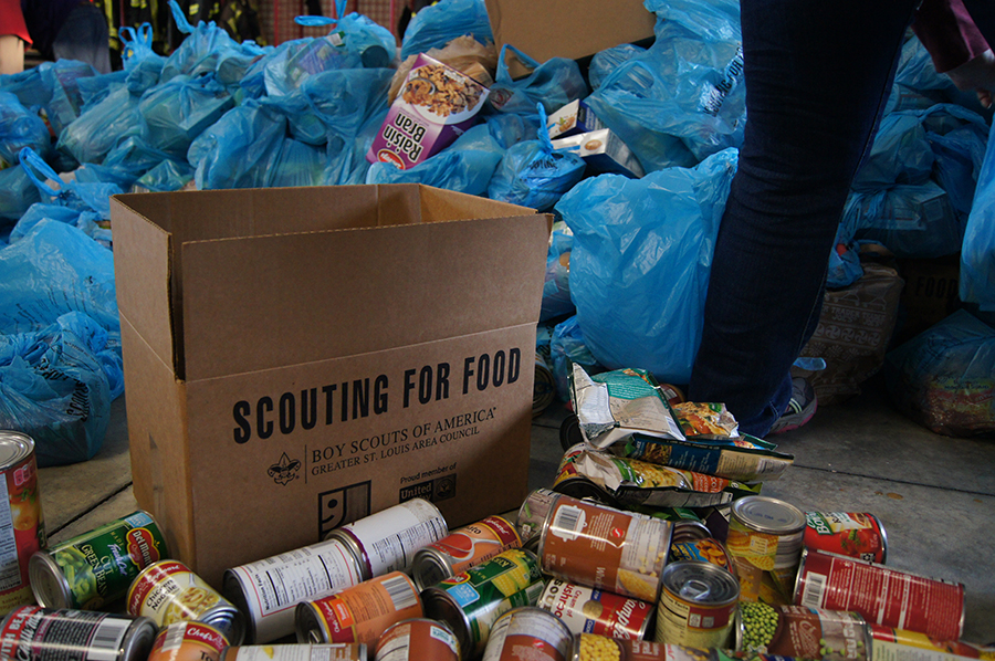 Scouting for Food collected nearly 2 million food items Nov. 11.
