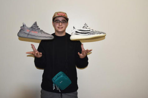 Sophomore Ismail Hacking clocks high earnings selling brand-name shoes