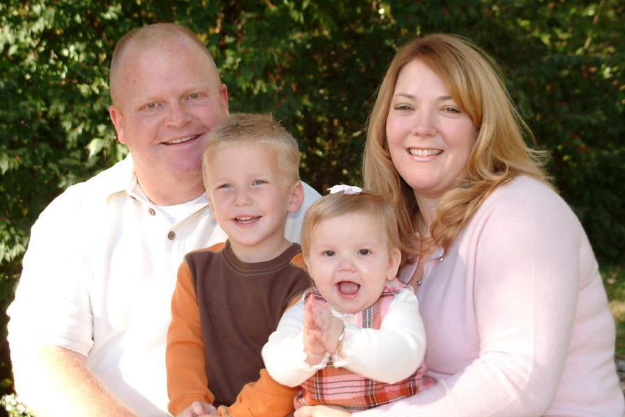 The Ballman family poses for a photo.