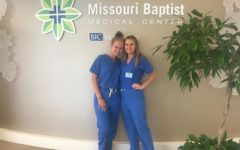 Juniors Mckenna Bendle and Kristin Wilson dedicate their summer to the Missouri Baptist Medical Center
