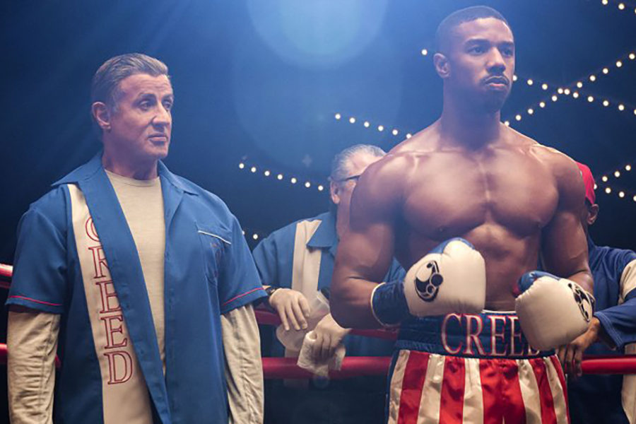 Creed II enters the ring swinging
