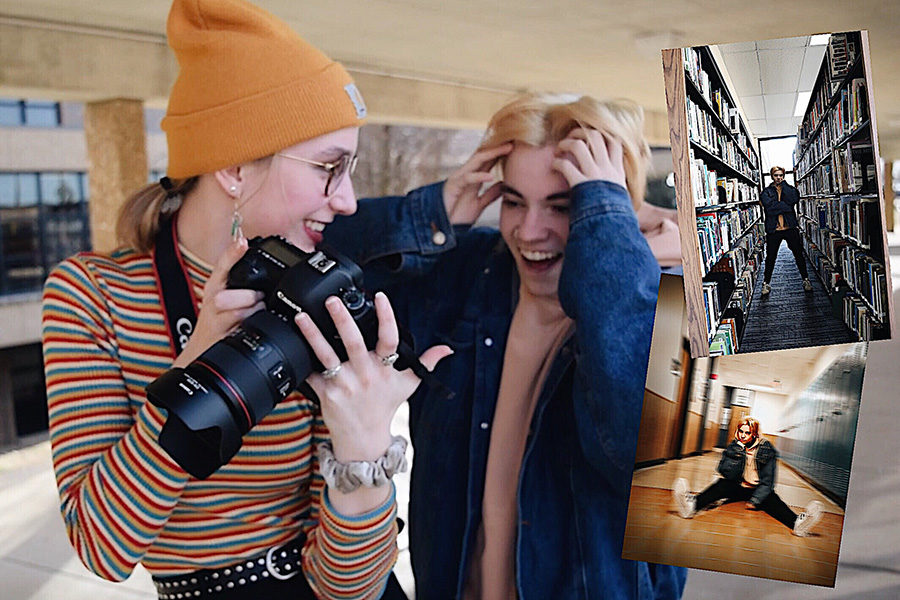 Student photographers try ugly location photoshoot challenge