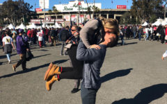 "Taylor Scott embraces her boyfriend Derik Scott at the Rose Bowl on the Tuesday before the premiere of ""The Titan Games."" They both agree that their experience with ""The Titan Games"" has been life-changing. ""Being in such a crazy atmosphere with Dwayne Johnson himself and 64 athletically gifted competitors was humbling,"" T. Scott said. ""The people Derik was surrounded by were such amazing humans. They have so much talent and so many things that could have or even did alter their paths, yet they found how to switch gears and make the most out of their lives through the gym and working out."""