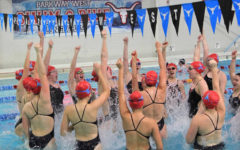 Swim team seniors make their final splash