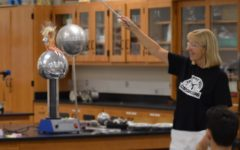 "Physics teacher Ellen Wilke says ""pharewell"" to her physics classroom of 22 years"
