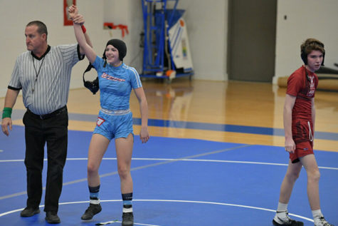 Freshman Paige Wehrmeister finds her strength in wrestling