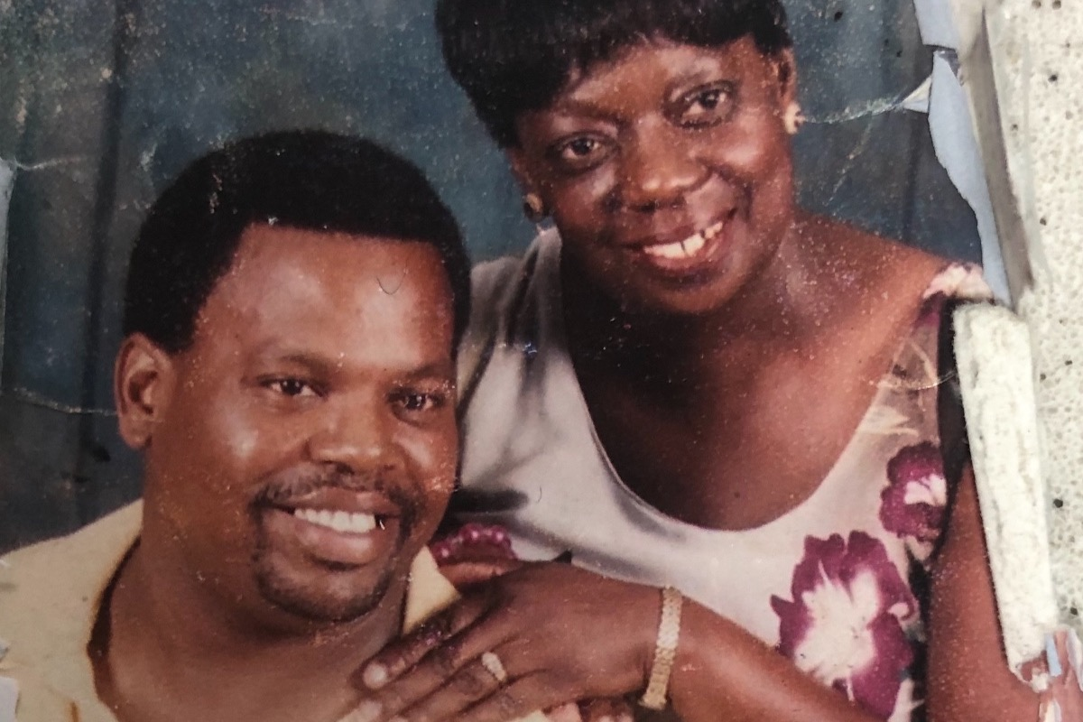 """A photograph of custodian Sean Smith and his wife is displayed on the GoFundMe page started by a student to help support them as they face medical setbacks. Smith wants to be remembered by students for his smile and positivity. """"You've all been good to us, and I want to be good right back,""""  Smith said. """"If you need me, I got you, and no matter what you'll always see me smiling."""""""