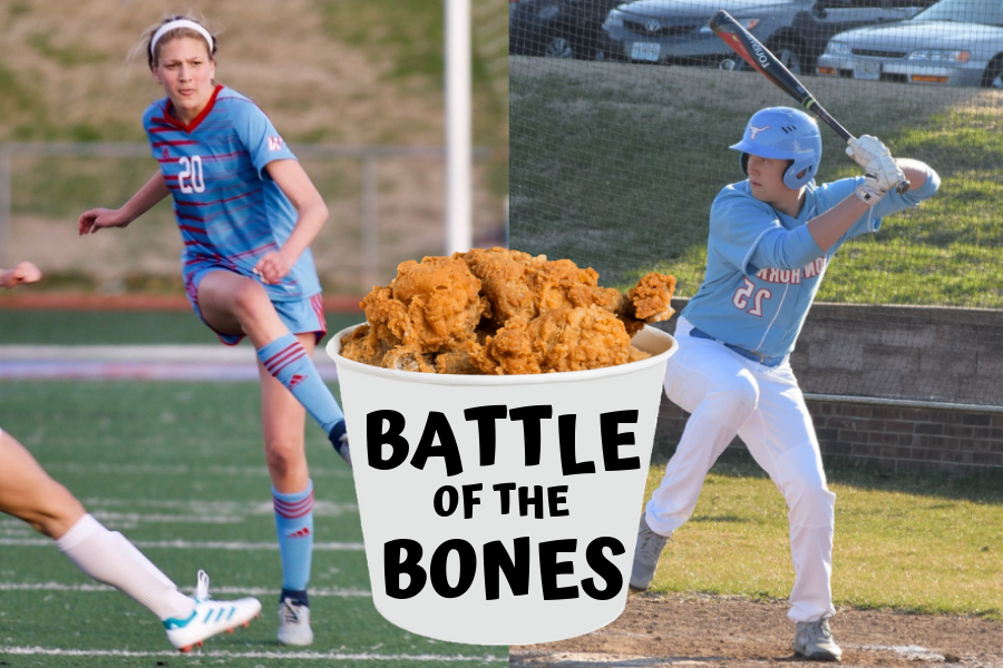 The girls soccer program will compete against the boys baseball program in the first annual battle of the bones.