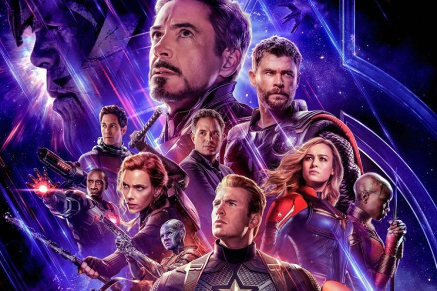 The surviving heroes after the snap pose for a promotional picture. 'Avengers: Endgame