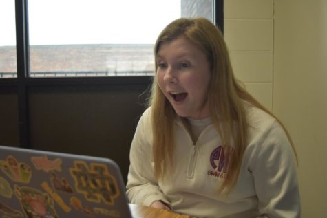 In a Boomalang session, junior Quinn Berry practices her Spanish skills. Berry, a Spanish three student, opted to participate in Boomalang.