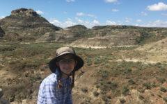 Sophomore Tenley Bertz prepares to 'dig' into summer