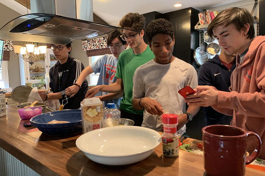 Chopping the competition: senior boys compete in high-stakes cook-off