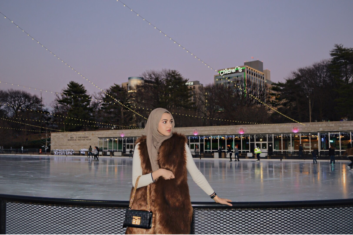 """Posing for a picture by the Steinberg Ice Rink in partnership with Uber, alumna Summer Albarcha shares the image on her blog. Albarcha posts regularly on the site, as well as on her Instagram and YouTube channel. """"Use social media as your portfolio in anything you do,"""" Albarcha said. """"[Your social media] is out there for companies to see when applying to jobs, so it's best to make it a reflection of yourself or the traits you're trying to portray. For example, if you're applying to a fashion job, you might want to have a fashionable Instagram to show your taste and styling work."""""""