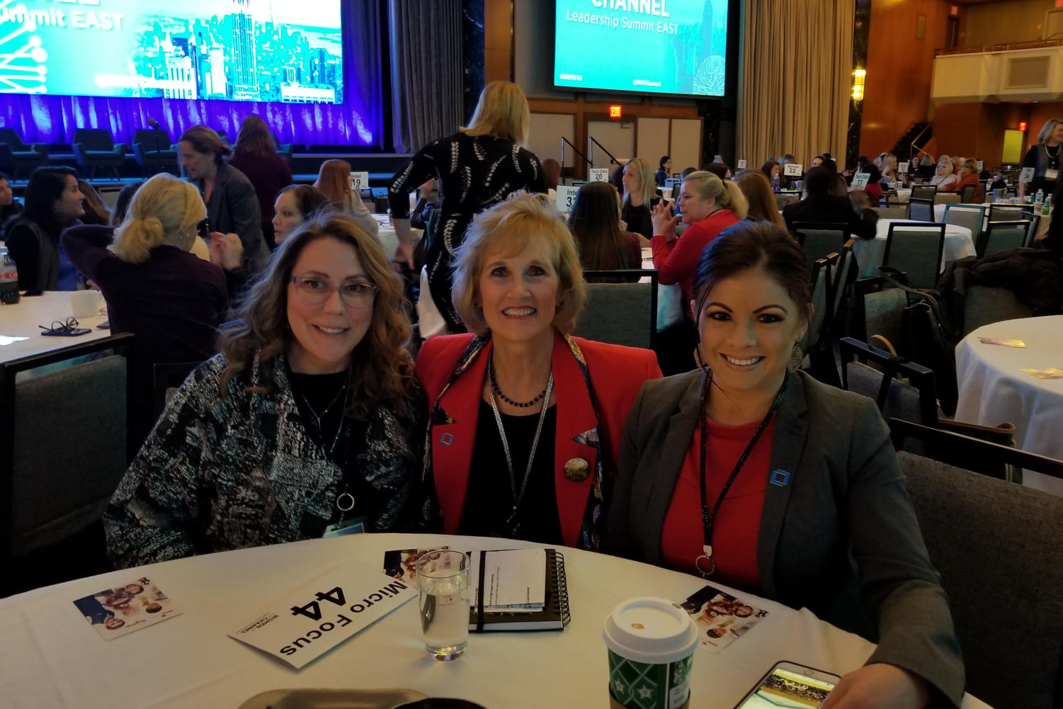 "Alumna Celeste Rudd sits with Lisa Gardner and Sheryl Wharff at the 2018 Women of the Channel Leadership Summit East in New York City. This event is where female leaders advance their careers and strategic goals. ""My interest in software stemmed from the desire to make a meaningful impact on society as well as my love of softwares constant need for adaptation to market needs and potential to make an incredible living. I am never bored and I know that what I do is impacting people in a meaningful way daily,"" Rudd said."