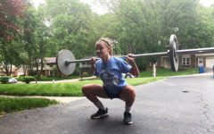 Sophomore Claire Hardy does not take weight lifting lightly