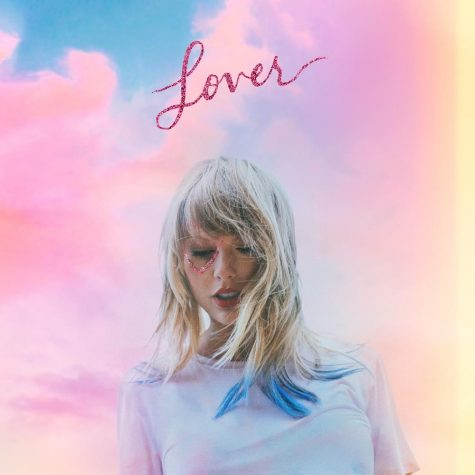 Taylor Swift poses on the cover of her sixth album,