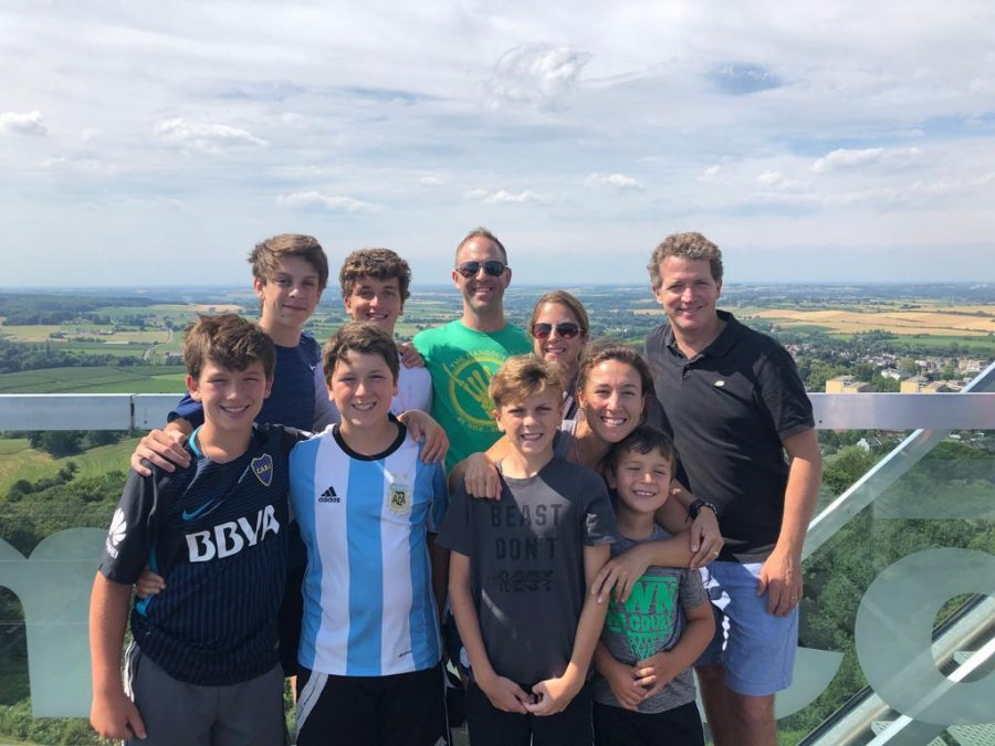 Standing+atop+a+tower+that+overlooks+Belgium%2C+Germany+and+the+Netherlands%2C+sophomore+Santi+Helbig+and+his+family+are+visited+by+fellow+sophomore+Alex+Spangler+and+his+family.+Helbig+was+excited+to+see+one+of+his+best+friends+who+he+had+not+seen+since+he+left+for+Germany.+%E2%80%9CHaving+him+with+me+was+a+big+reminder+of+all+the+people+that+love+me+back+at+home%2C+and+it+made+me+so+happy+to+be+able+to+show+him+all+the+beautiful+places+we%E2%80%99ve+been+to+so+far.+I+really+needed+to+see+him+after+so+much+time+away+from+everyone%2C%E2%80%9D+Helbig+said.+