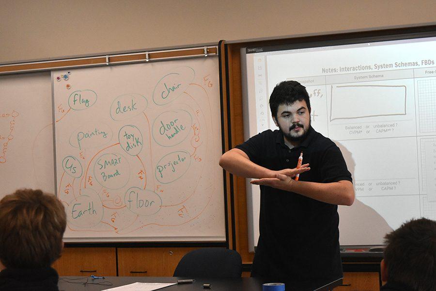 New teacher Joe Milliano teaches AP Physics 1 and AP Physics 2.