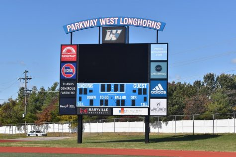 "The scoreboard was built after Parkway set up a deal to pay for it through advertising. This occured when Parkway was under the Kelly Sports Properties contract. ""The district has posted a sports media position and we're in the process of interviewing and hiring someone so that person will [be able to] take over some of the duties that Kelly has been performing,"" Athletic Director Brian Kessler said."