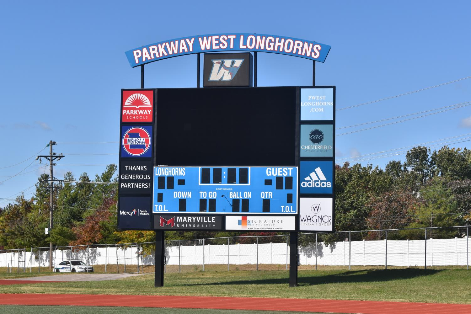 """The scoreboard was built after Parkway set up a deal to pay for it through advertising. This occured when Parkway was under the Kelly Sports Properties contract. """"The district has posted a sports media position and we're in the process of interviewing and hiring someone so that person will [be able to] take over some of the duties that Kelly has been performing,"""" Athletic Director Brian Kessler said."""