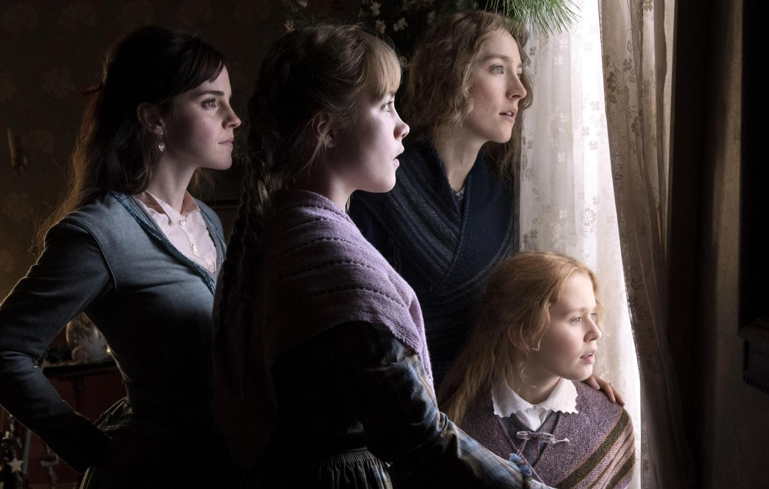 Emma Watson, Saoirse Ronan, Eliza Scanlen and Florence Pugh as the March sisters in