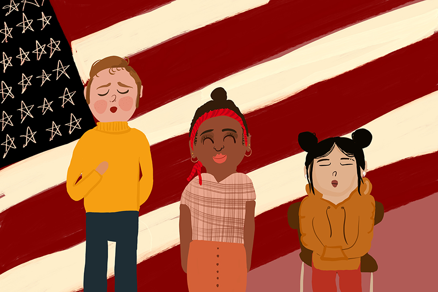 Missouri law requires public schools to recite the Pledge of Allegiance once per school day, though individual students are not required to participate.