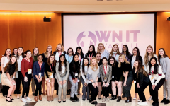 Juniors Lauren Crawford and Sara Marks attend Olin Future Women in Business Weekend