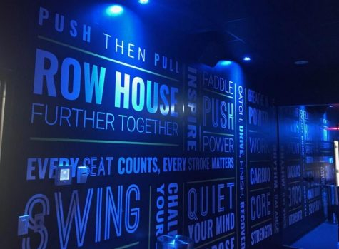 Motivational sayings on the walls of Rowhouse's studio boost you through your workout.