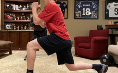 "With his baseball season canceled, freshman Cooper Walkoff keeps up with his workouts virtually. Walkoff has trained with a personal trainer at D1, a gym, for a year now, but due to quarantine, the gym has gone virtual. ""Every morning my family and I log-in virtually to D1 training classes. They start at 9:30 a.m. and it gets me out of bed,"" Walkoff said. ""These workouts have been good for me to stay in shape for baseball. I am looking forward to playing baseball and seeing all of my friends and teammates when this whole thing is over."""