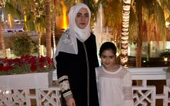 "Sophomore Zeina Daboul poses with her sister in Saudi Arabia. Daboul felt that the situation regarding COVID-19 is more regulated in Saudi Arabia. ""To me, I think the situation here is a lot more controlled than in the United States. The U.S. is having an increasing number of cases each day, while we have a constant number every day,"" Daboul said. ""The U.S. has also been struggling with its healthcare system and how it's handling the situation, and while I am pretty sure that [Saudi Arabia] has the same problem, the issue is magnified in the U.S. due to its size and huge population."""