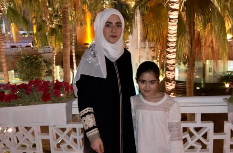 "Sophomore Zeina Daboul poses with her sister in Saudi Arabia. Daboul felt that the situation regarding COVID-19 is more regulated in Saudi Arabia. ""To me, I think the situation here is a lot more controlled than in the United States. The U.S. is having an increasing number of cases each day, while we have a constant number every day,"" Daboul said. ""The U.S. has also been struggling with its healthcare system and how it"