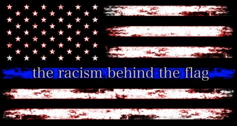 Instead of a symbol of support, the Thin Blue Line flag, also known as the