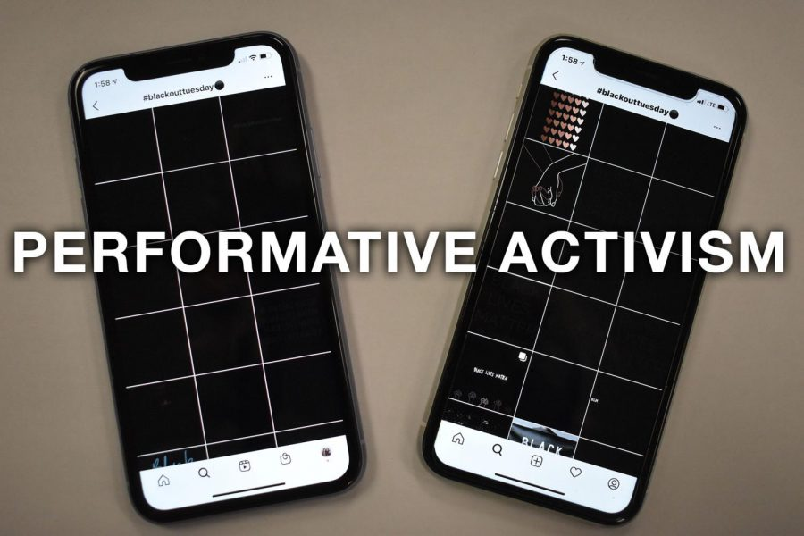 One example of performative activism occurred on June 2, when millions of Instagram users posted black squares with the hashtag #blackouttuesday. Performative activism, which consists of low risk actions and increases social capital, does little to help further a cause.