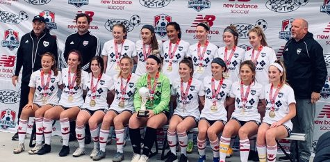 Led by head coach Bob Kittner, sophomore Cate Adler (wing-back) and her team take the 2020 State Championship Cup. Numbering all of their appearances at State, Adler