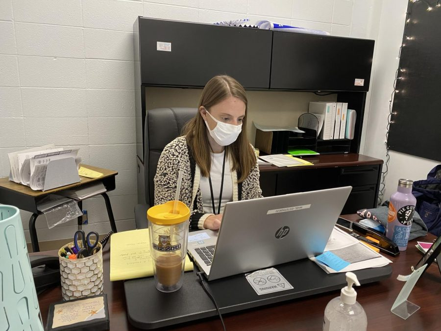 Counselor Erin Sternberg focuses on making sure all students, not just those in her letter group, are getting the help they need.