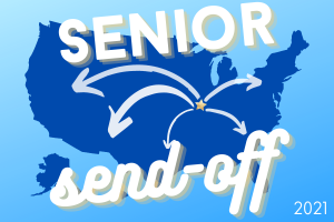 2021 Senior send-off map