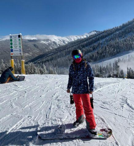 Junior and Hidden Valley employee Alianna Henchel takes on her third winter Snowboarding.