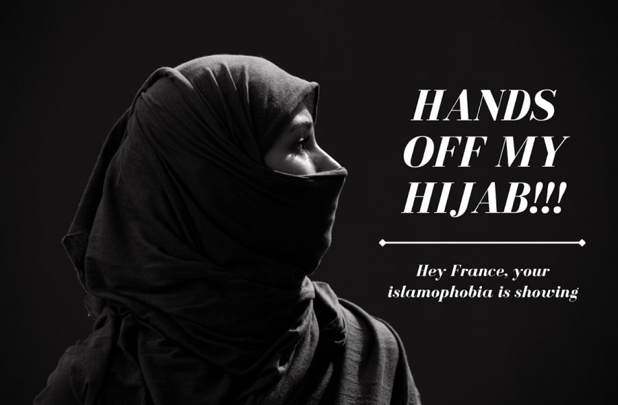 "After the French National Assembly proposed a ban on religious symbols for minors in public schools, young Muslim women in france started the hashtag ""HANDS OFF MY HIJAB."" This hashtag has emassed over 70,000,000 retweets, and can be seen all over protest posters in France. It was started by Muslim model Rawdah Mohamed, which she has encouraged others to post in solidarity with Muslim women in France."