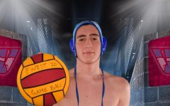 "Posing for his image on media day, sophomore Kosta Radoman palms a water polo ball and holds it towards the camera. Radoman, although attending Whitfield, has been playing for Parkway West for the first time this season. ""It is definitely challenging for an athlete who is committed to a sport when their high school does not offer it,"" Radoman said. ""I'm very grateful for the opportunity that Parkway West has given me."""